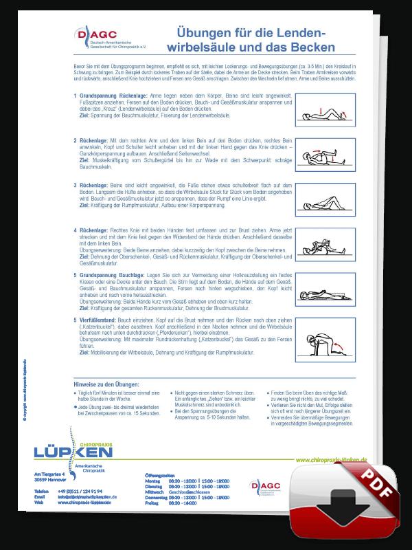 DAGC Übungen für die Lendenwirbelsäule und das Becken